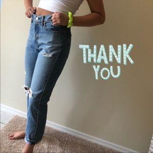 Black Levi's 501 women's skinny high rise skinny
